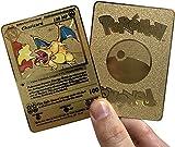 Gold Charizard- Pokemon Gold Metal 1st Edition Shadowless Version(Custom)