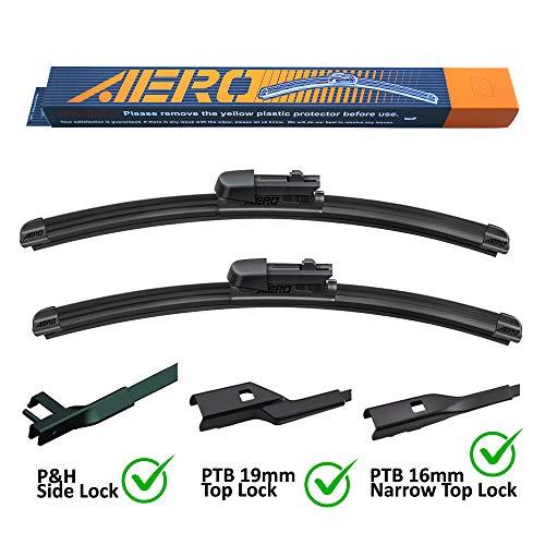 "AERO Premium All-Season Beam Windshield Wiper Blades Replacement for Volkswagen Passat 2019-2006 24""+19"" (Set of 2)"