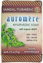 Ayurvedic Bar Soap Sandal-Turmeric by Auromere - All Natural Handmade and Eco-friendly Bar Soap for Sensitive Skin - 2.75 oz