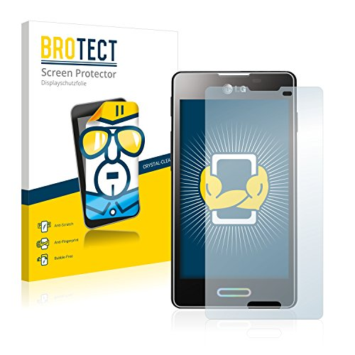 brotect Pellicola Protettiva Compatibile con LG Electronics E460 Optimus L5 II Pellicola Trasparente (2 Pezzi) Anti-Impronte