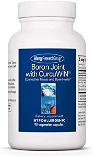 Allergy Research Group - Boron Joint with CurcuWIN - Connective Tissue and Bone Health - 90 Vegetarian Capsules