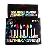 DFSDG 12 unids/Fiesta de cumpleaños Suministros Multicolor Llama Vela Decoración para el hogar Pastel de Boda Velas Caja de Postre Decoración de Postre