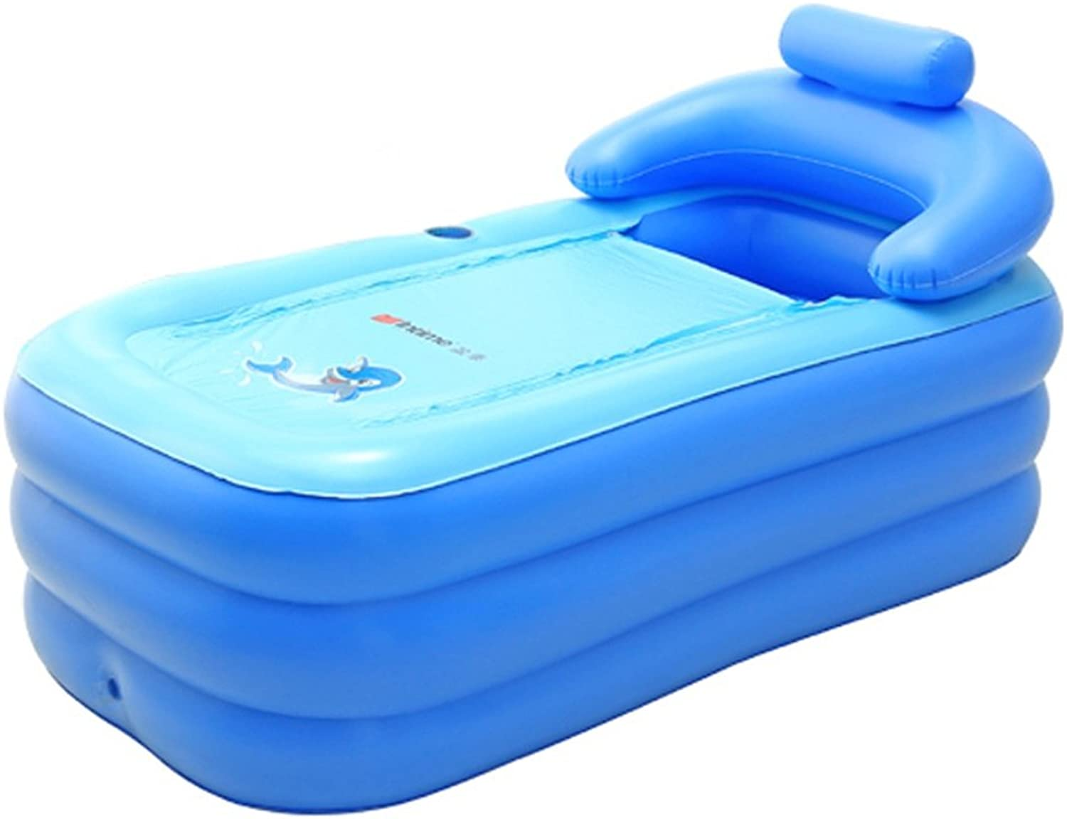 Ali@ Environmental PVC bluee Pink adult bathtub inflatable bathtub for indoor outdoor use (Size   Package 4)