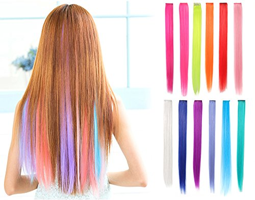 Straight Hair Heat-Resistant Synthetic Hair Extensions