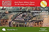 Solider en plastique 1/72Allied Sherman m4a4et Firefly Réservoir # ww2V20015