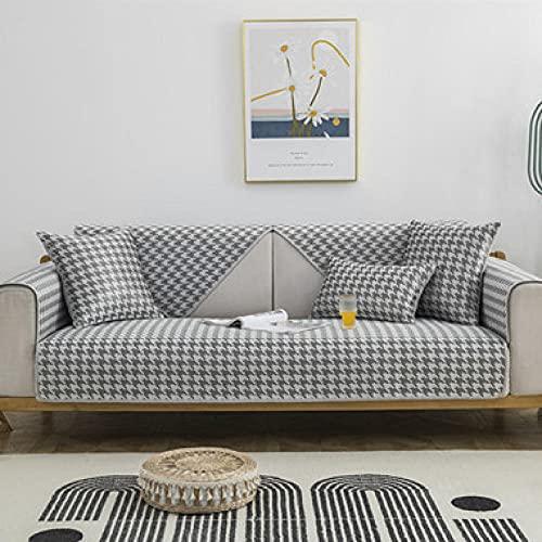 KENEL Forma de L Cubierta del sofá, Resistente a rayones Protector de Muebles Cojín de sofá de colchón de verano-90 * 160cm_Gris-Vendido en Pedazos