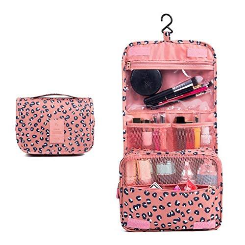 Gros Cubes d'emballage Mode étanche Voyage Capacité Sac de Rangement Crochet Portable Trousse de Toilette cosmétiques Accessoires de Mode Voyage (Color : Leopard)