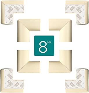 TRITINA Corner Safety Bumpers Healthy PBA Free Baby Cushion with 3M Tape,Table Furniture Safety Protect Child,Keep Your Kids Head Safe Under Stairs,Pack of 8pcs (Milk White)