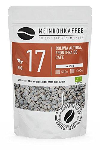 Rohkaffee - Bolivia (grüne Kaffeebohnen) - mittelkräftiges Aroma, schokoladig honigartig mit leichter Frucht - 500g