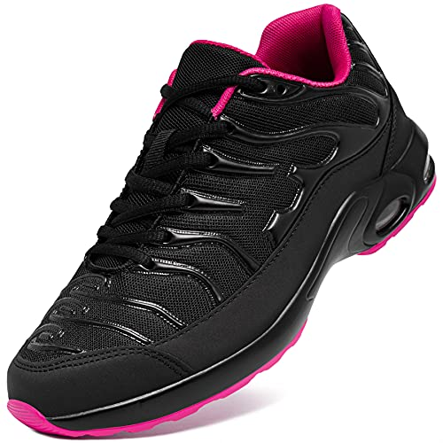 [DYKHMILY] 安全靴 メンズ レディース 軽量 エアクッション 作業靴 衝撃吸収 あんぜん靴 鋼先芯 踏抜き防止 おしゃれ 通気 スニーカー セーフティーシューズ(22.5cm,フロックスピンク,D91825)