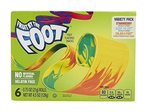 Betty Crocker Fruit Snacks, Fruit By The Foot, Variety Snack Pack, 6 Rolls, 0.75 oz Each