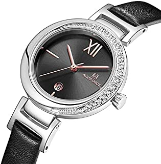 Naviforce women's Casual watch leather band wife gift