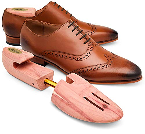 STRATTON CEDAR SHOE TREE 2-PACK FOR MEN (for 2 pairs of shoes) - GROWN IN USA (Large)