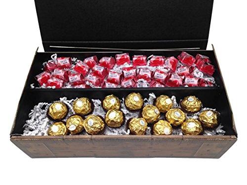 Ferrero Mon Cherie + Rocher Geschenk Schatztruhe 515g - die kleine gemischte Kostbarkeit für Ihre Liebsten - perfekt zum Verschenken oder auch als Dekoration.