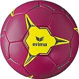 Erima Ballon de Handball Mixte Enfant, Berry/Jaune, Taille : 1