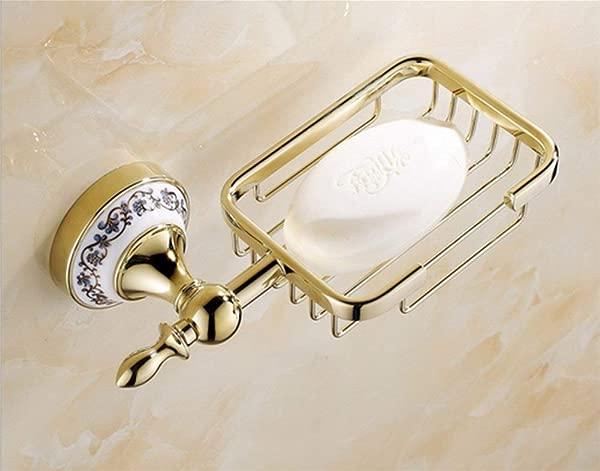 Tungchilan Blue And White Porcelain European Style Bathroom Soap Dish Multifunctional Storage Box Size A