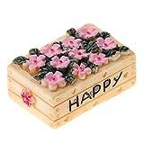 1/12 Puppenhaus Garten Deko Miniatur Blumenkorb Blumenkasten Modell aus Harz - Rechteck