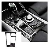 ZGYCYDLX Autopartes 1 Pieza de Cambio de Marcha del Coche Panel de Ajuste Cubren la Etiqueta decoración de la Fibra de Carbono Elegante for BMW X5 E70 E71 X6 LHD Coches Accesorios de Estilo
