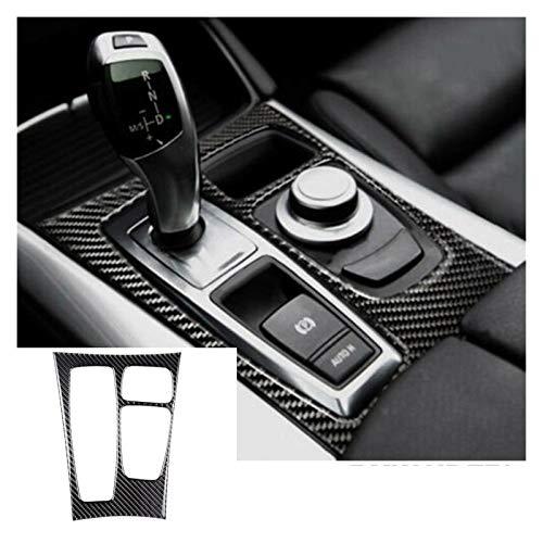 HCHD 1 Stück Auto-Gangschaltung-Panel-Trim-Abdeckung Abziehbild-Dekor-Carbon-Faser stilvoll for BMW X5 E70 X6 E71 LHD Car Styling Zubehör (Color Name : Type 1)