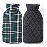 MYYXGS Cappotto per Cani Impermeabile E Reversibile Cappotto per Cani Invernale Scozzese Caldo Vestiti per Animali Domestici Vestiti Elastici per Cani Piccoli Medi E Grandi Autunno E Inverno