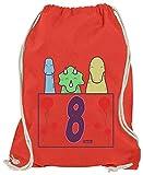 Hariz - Bolsa de deporte con diseño de dinosaurios, rojo (Rojo) - AchterGeburtstag05-WM110-9-1