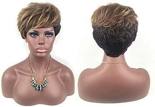 女性ファッショングラデーションショートヘアウィッグ自然に見える絶妙な弾性ネットウィッグカバー(66109)