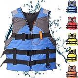 ERTLKP Gilets De Sauvetage pour Adultes, Veste De Navigation De Sports De Plein Air pour Adultes Veste De Gilet De Sports De Plein Air Gilet De Flottabilité Léger pour La Voile Surf Kayak (Blue)
