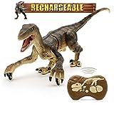 Hot Bee Remote Control Dinosaur Toys, Walking Robot Dinosaur w/ LED...
