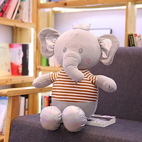 huobeibei Bebé Animal Elefante de Peluche muñeca Elefante Relleno Felpa Suave Almohada Chico Juguete niños habitación Cama decoración Juguete Regalo 60 cm B