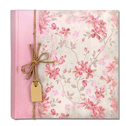 Preisvergleich Produktbild Fotoalbum traditionelle 20 Blatt 24 x 24 Bilderrahmen Garden Pink