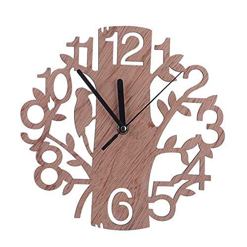 Arbre Creux Décoration Ronde en Bois Out Horloge...