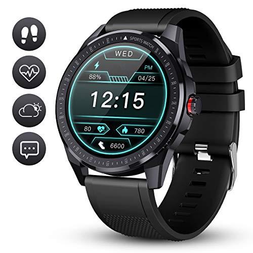GOKOO Smartwatch Fitness Tracker Herren Männer Sportuhr IP68 Wasserdicht Aktivitätstracker Mit Schrittzähler Schlafmonitor 10 Sportmodi Pulsuhren Stoppuhr für iOS Android Handy