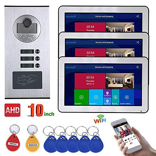 Why Choose HTYX Cable 3 Apartments10 inch Recording Video doorbell 720P Video Door Door Phone Interc...