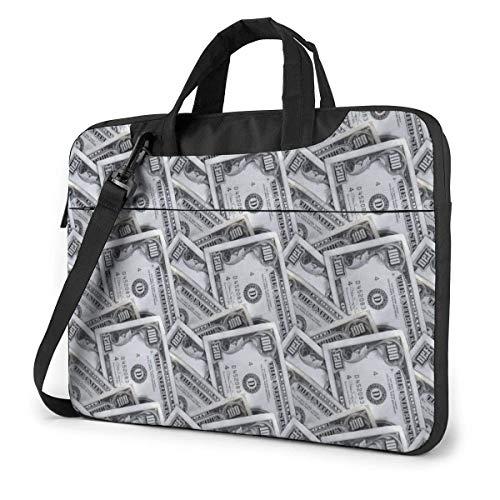 Estuche para computadora portátil Bolsa de computadora Funda de manga Money Dollar Maletín de hombro impermeable 13 14 15.6 pulgadas