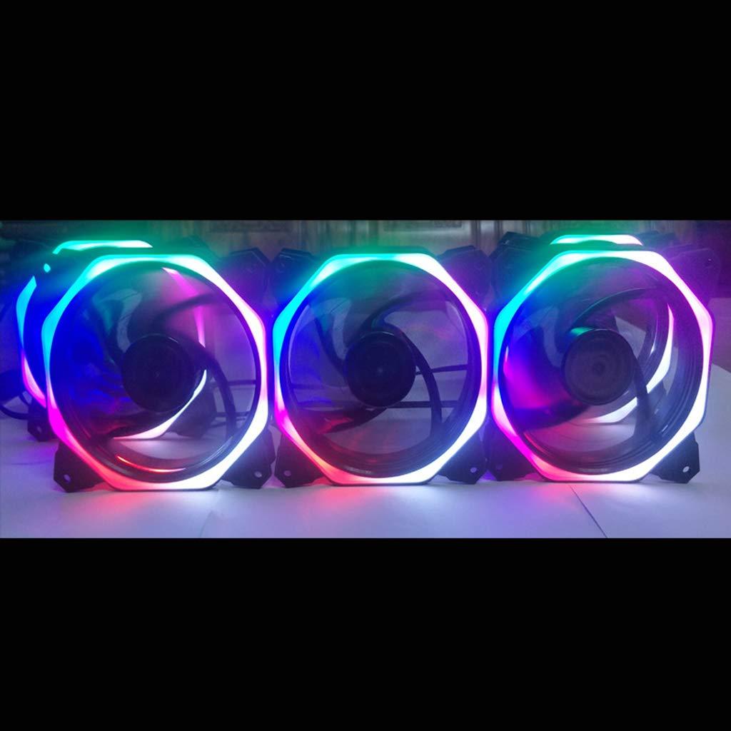 Ruda - Ventilador para ordenador (12 cm, doble apertura, LED ...