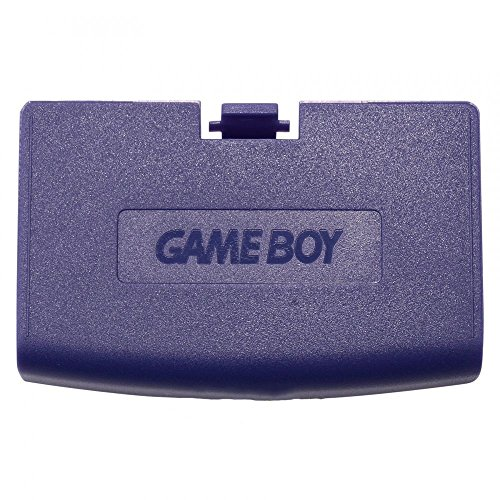 Plastic Battery Cover Door Part for Game Boy Advance GBA Purple Color