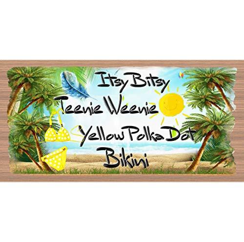 H34565ard Tropisch Hout Tekenen Geel Polka Dot Bikini GS 089
