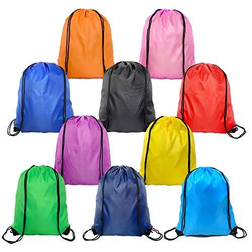 Drawstring Backpack 10 Colors Drawstring Bag Bulk for Girls Boys Kids Sack Cinch Bags for Sport Gym or Traveling