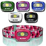 BLITZU LED Headlamp Flashlight for Adults and Kids - Waterproof Super...
