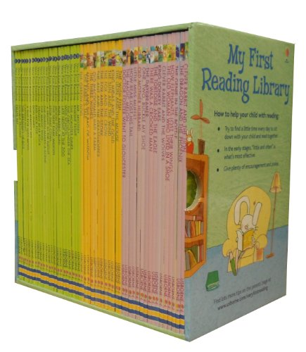 Seven Creations Usborne My Very First Reading Library 50 Books Set Collection Pack Early Level 1 and 2