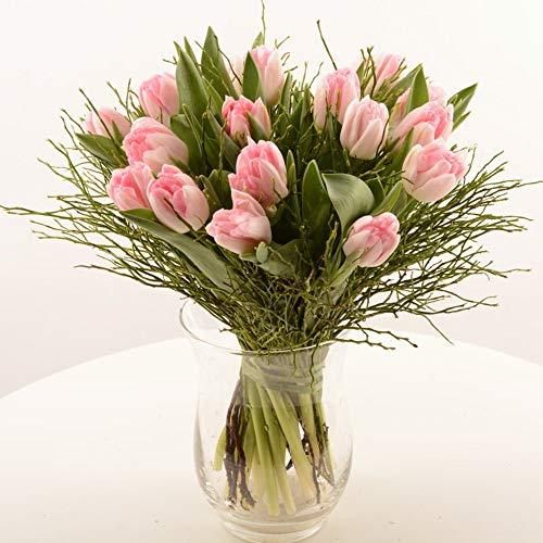 Blumenversand im Frühling! - Blumenstrauß - 20 Stück rosa gefüllten Tulpen Foxtrot - Deutschlandweit versenden
