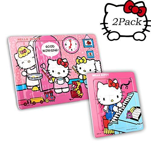 SNUUR-ZH Hello Kitty Puzzle da 60 Pezzi per Bambini Puzzle in Una Scatola di Ferro Puzzle di Animali dei Cartoni Animati, Regalo di Compleanno per Ragazze, Giocattoli di apprendimento