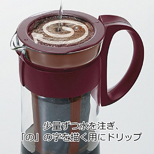 coffee being made using the Hario cold brew maker
