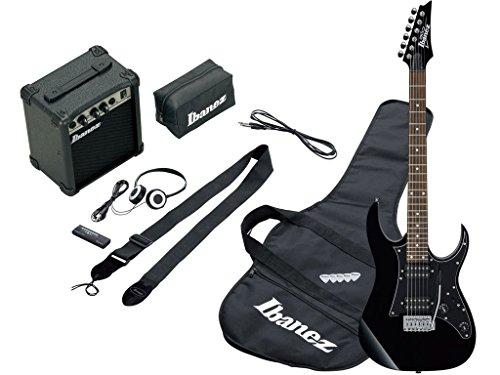 Ibanez IJRG200BK Jumpstart Kit schwarz–Kit schwarze Gitarre mit Verstärker 10W und Zubehör