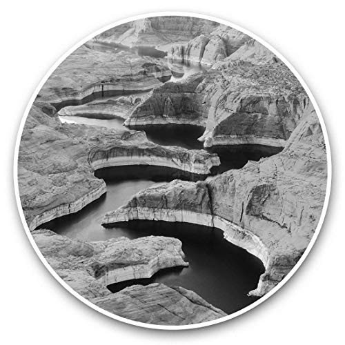 Awesome 37299 - Pegatinas de vinilo (juego de 2) 10 cm (bw), diseño del Gran Cañón Nevada Arizona USA