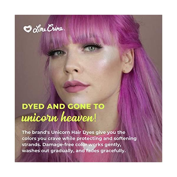 Lime Crime Unicorn Hair Dye, Juicy - Fuschia Fantasy Hair Color - Full Coverage, Ultra-Conditioning, Semi-Permanent, Damage-Free Formula - Vegan - 6.76 fl oz 6