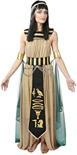 MOUNTAIN MEN-Halloween Costumes Ladies Halloween Costumes Egyptian Pharaoh Yan HOU National Costumes Costume Cosplay Prince Princess Costume Halloween Carnival Night (Color : Female, Size : L)