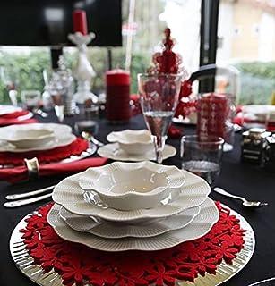 Kütahya Porselen Ensemble ESS 24 pièces de qualité supérieure - Design moderne (blanc).