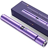 BESTOPE Hair Straightener Flat Iron for Healthy Hair Styling, 2 in 1 Detachable Power Cord Tourmaline Ceramic Hair Straightener and Curler Adjustable Temperature and Salon High Heat 265℉-450℉