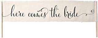 Gartner Studios Cream Burlap Here Comes the Bride Wedding Banner